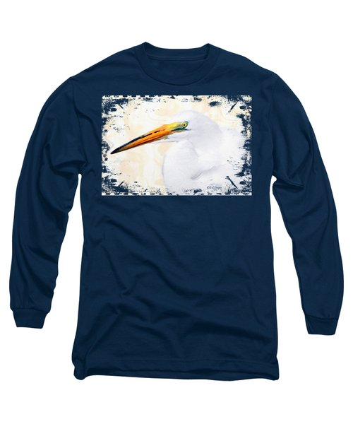 Egret Thoughts Signature Series Long Sleeve T-Shirt by Di Designs
