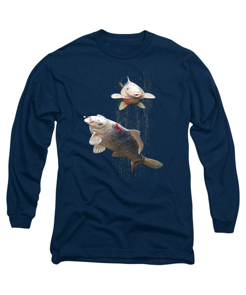 Feeding The Koi Long Sleeve T-Shirt by Gill Billington