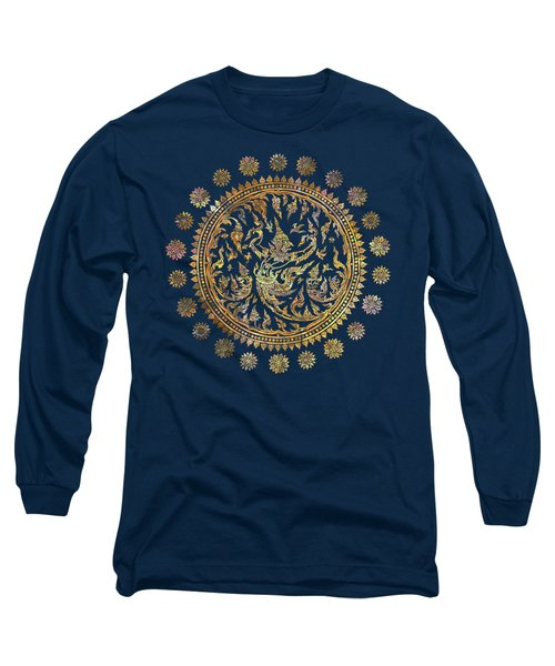 Garuda's Golden Victory - Color Edition Long Sleeve T-Shirt by David Ardil