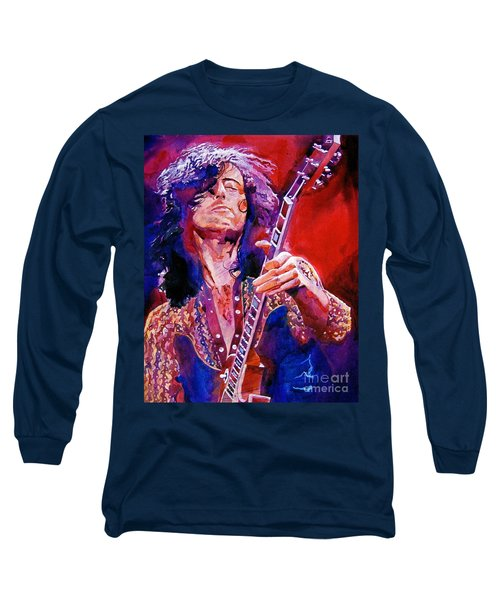 Jimmy Page Long Sleeve T-Shirt by David Lloyd Glover