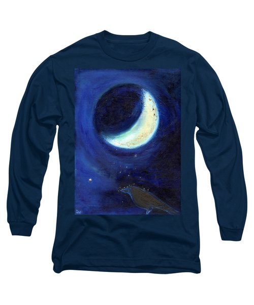 July Moon Long Sleeve T-Shirt by Nancy Moniz