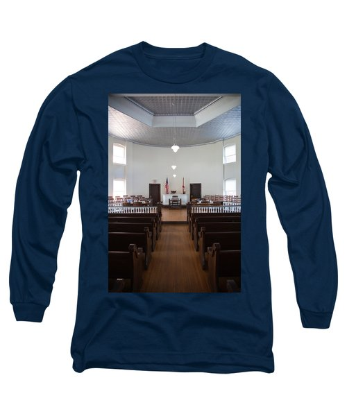 Jury Box In A Courthouse, Old Long Sleeve T-Shirt by Panoramic Images