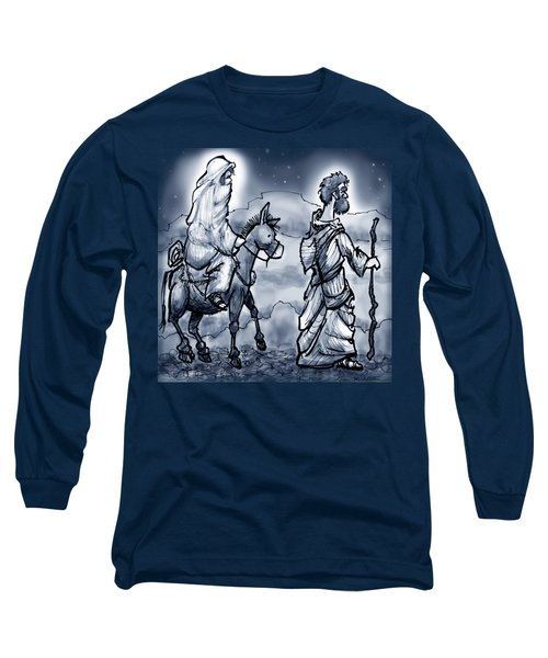 Mary And Joseph  Long Sleeve T-Shirt by Kevin Middleton