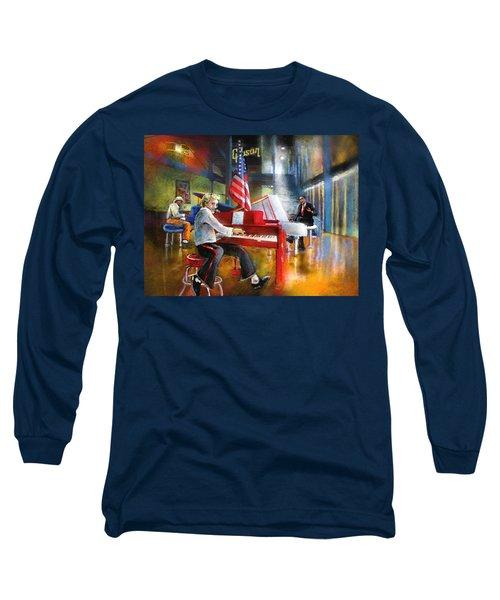 Memphis Nights 04 Long Sleeve T-Shirt by Miki De Goodaboom