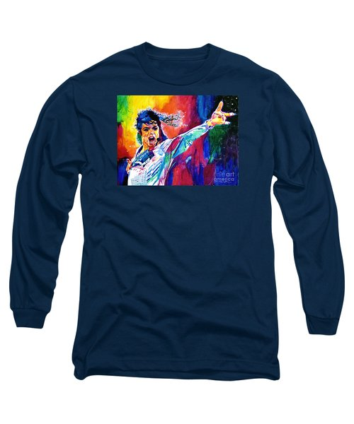 Michael Jackson Force Long Sleeve T-Shirt by David Lloyd Glover