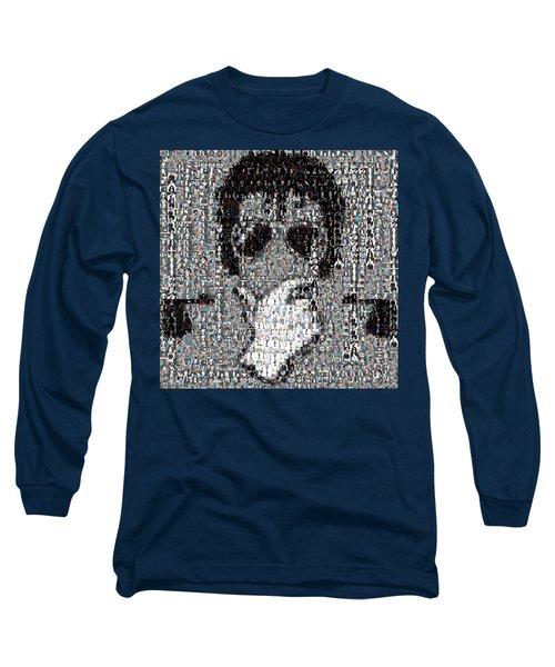 Michael Jackson Glove Montage Long Sleeve T-Shirt by Paul Van Scott