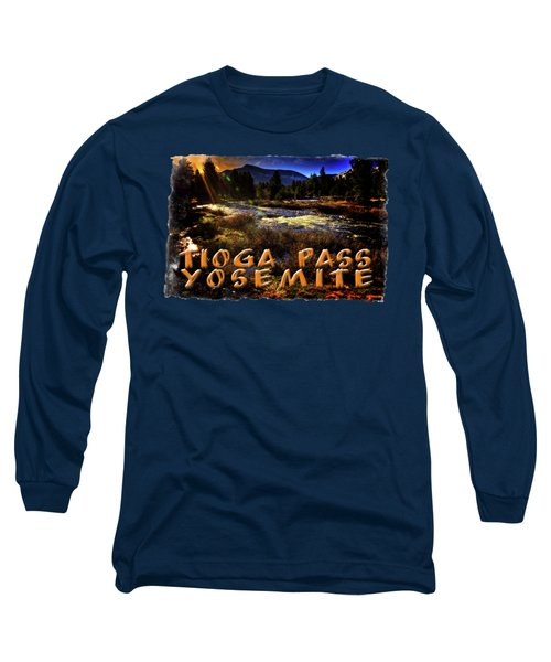 Mine Creek Between Lakes Ellery And Tioga Long Sleeve T-Shirt by Roger Passman