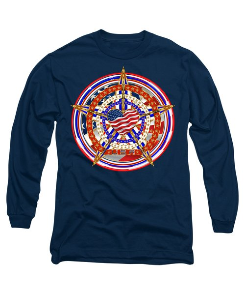 Patriotic For You America Where It Loud And Proud Long Sleeve T-Shirt by Bill Campitelle