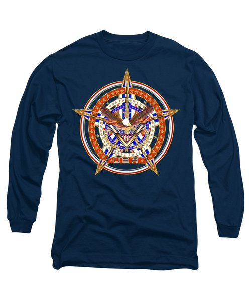 Patroitic-veteran Long Sleeve T-Shirt by Bill Campitelle