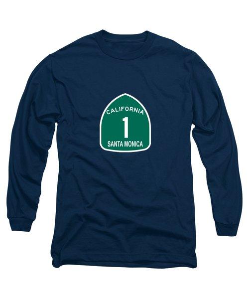 Pch 1 Santa Monica Long Sleeve T-Shirt by Brian's T-shirts