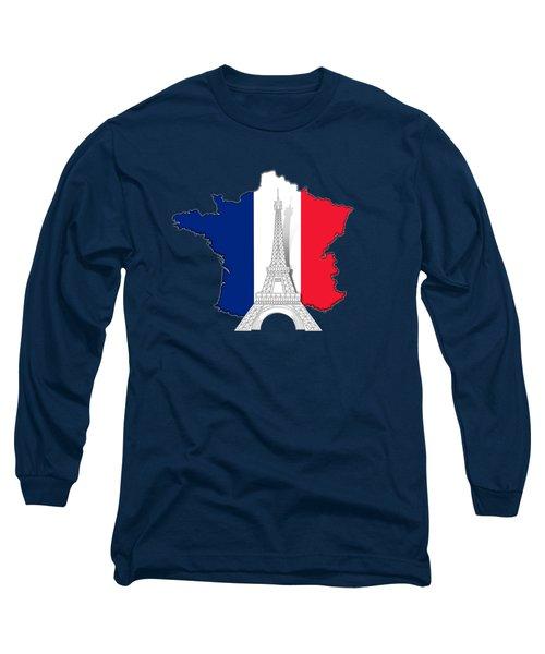 Pray For Paris Long Sleeve T-Shirt by Bedros Awak
