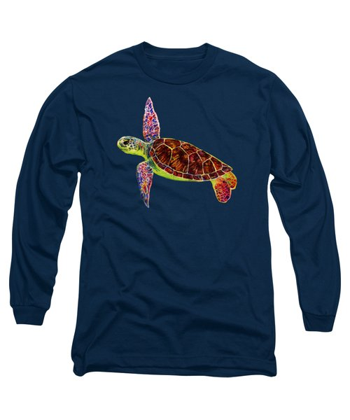 Sea Turtle Long Sleeve T-Shirt by Hailey E Herrera