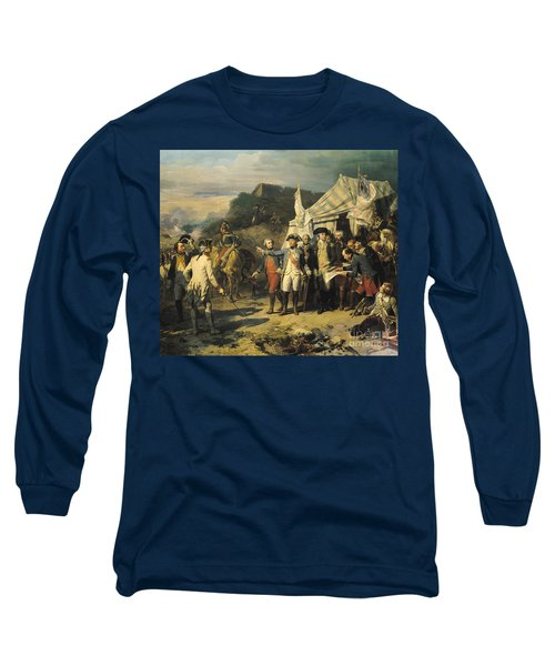 Siege Of Yorktown Long Sleeve T-Shirt by Louis Charles Auguste  Couder