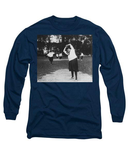 Softball Game Long Sleeve T-Shirt by Granger