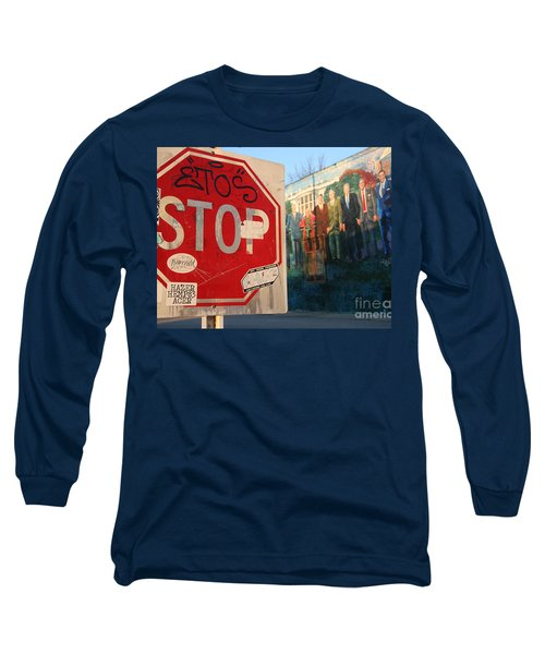 Street Art Washington D.c.  Long Sleeve T-Shirt by Clay Cofer