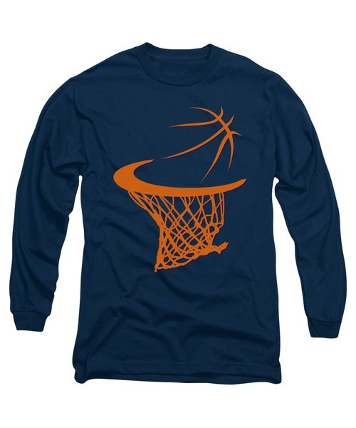 Suns Basketball Hoop Long Sleeve T-Shirt by Joe Hamilton