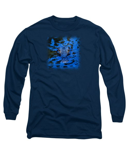The Eyes Of A Florida Alligator Long Sleeve T-Shirt by John Harmon