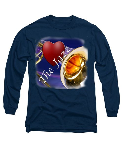 The Trombone Jazz 002 Long Sleeve T-Shirt by M K  Miller