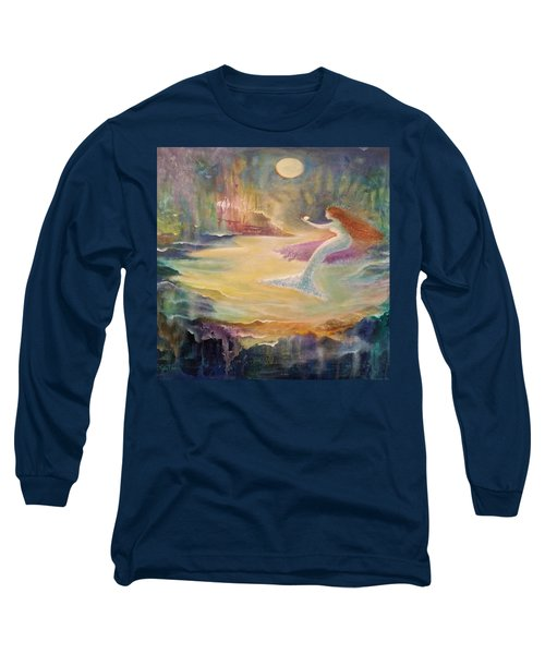 Vintage Mermaid Long Sleeve T-Shirt by Lily Nava
