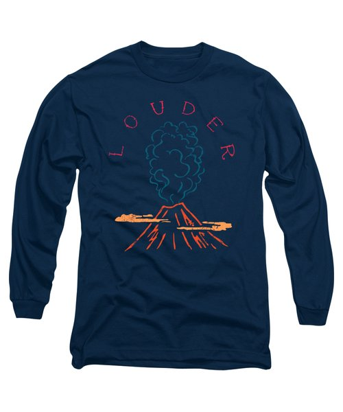 Volcano Long Sleeve T-Shirt by Illustratorial Pulse