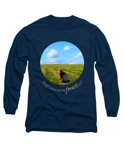 Where Did The Forest Go Long Sleeve T-Shirt by Christina Rollo