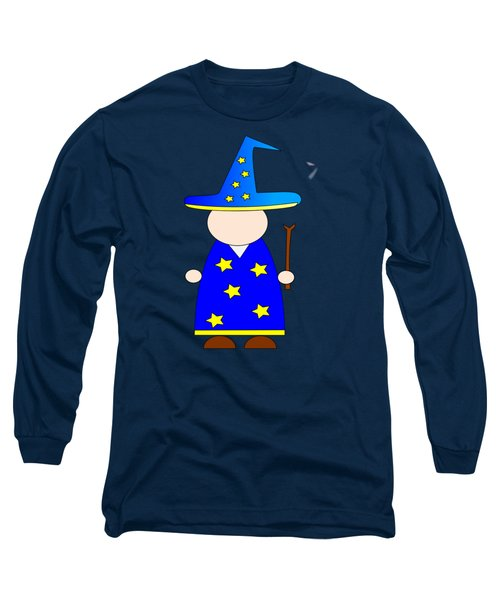 Wizard #2 Long Sleeve T-Shirt by Frederick Holiday