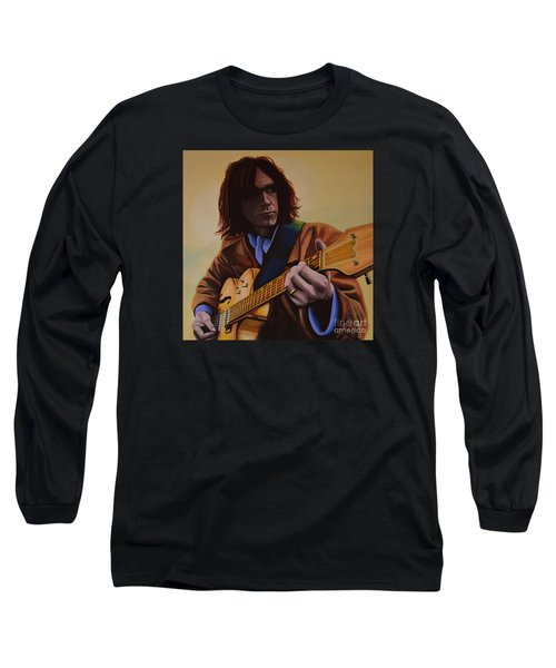 Neil Young Painting Long Sleeve T-Shirt by Paul Meijering
