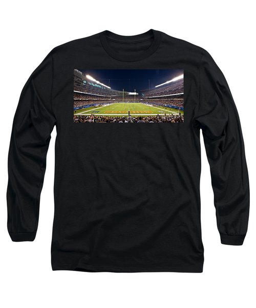 0587 Soldier Field Chicago Long Sleeve T-Shirt by Steve Sturgill