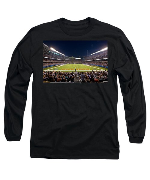 0588 Soldier Field Chicago Long Sleeve T-Shirt by Steve Sturgill