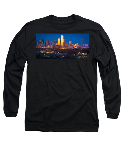 Dallas Skyline Long Sleeve T-Shirt by Inge Johnsson