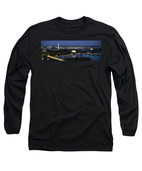 High Angle View Of A City, Washington Long Sleeve T-Shirt by Panoramic Images