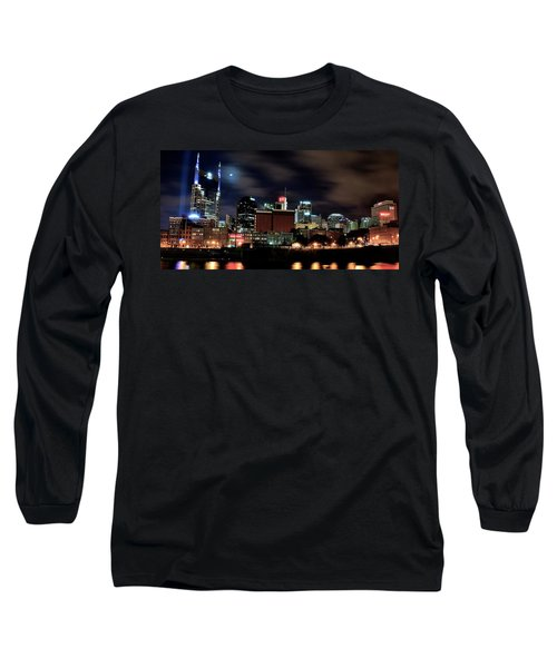 Nashville Panoramic View Long Sleeve T-Shirt by Frozen in Time Fine Art Photography
