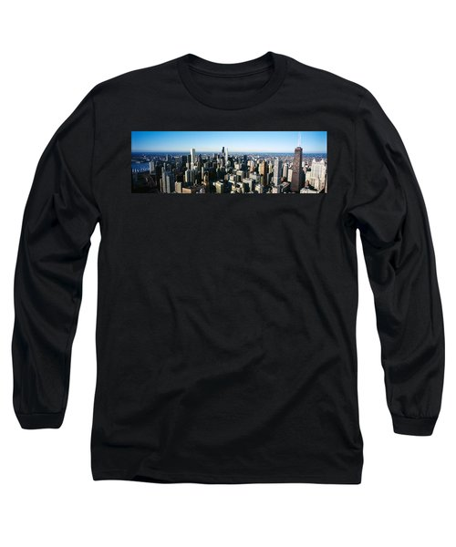 Skyscrapers In A City, Hancock Long Sleeve T-Shirt by Panoramic Images