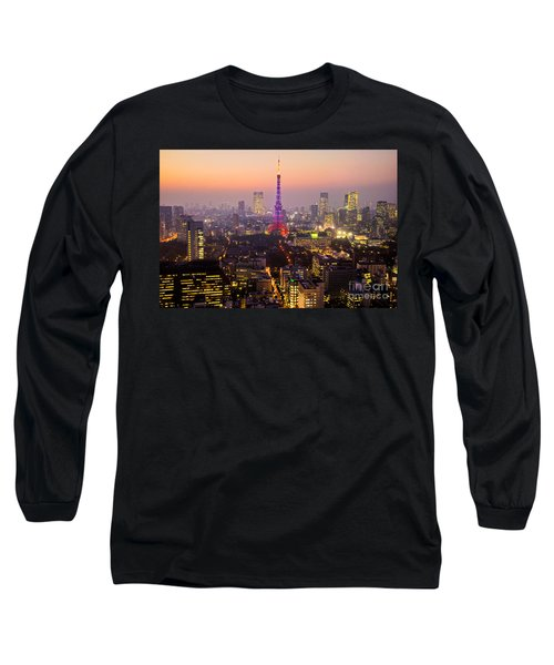 Tokyo Tower - Tokyo - Japan Long Sleeve T-Shirt by Luciano Mortula