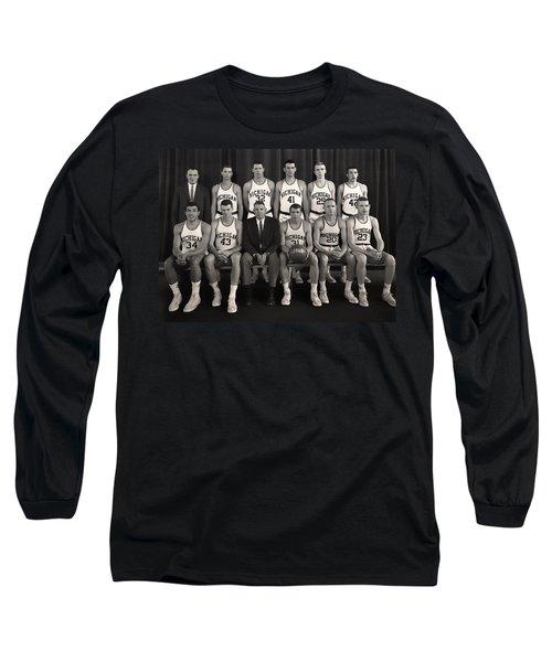 1960 University Of Michigan Basketball Team Photo Long Sleeve T-Shirt by Mountain Dreams
