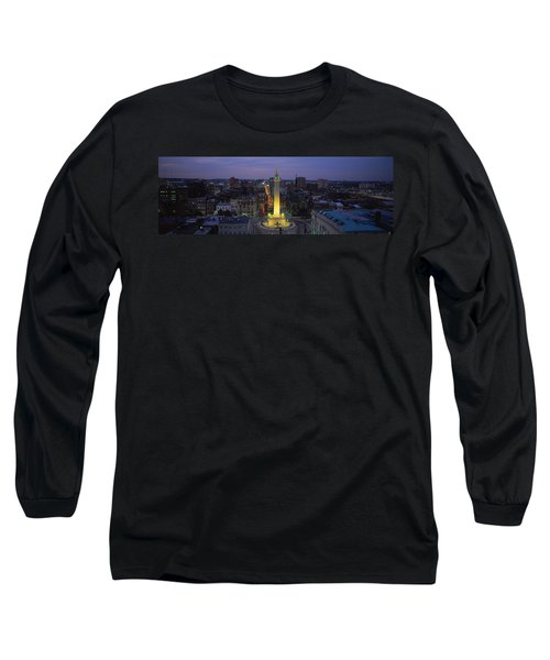 High Angle View Of A Monument Long Sleeve T-Shirt by Panoramic Images