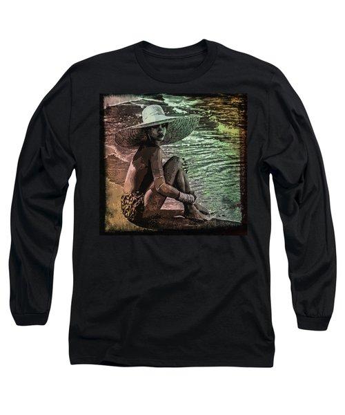 Rihanna Long Sleeve T-Shirt by Svelby Art