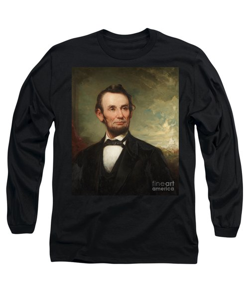 Abraham Lincoln  Long Sleeve T-Shirt by George Henry Story