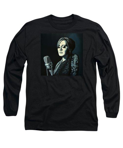 Adele Skyfall Painting Long Sleeve T-Shirt by Paul Meijering