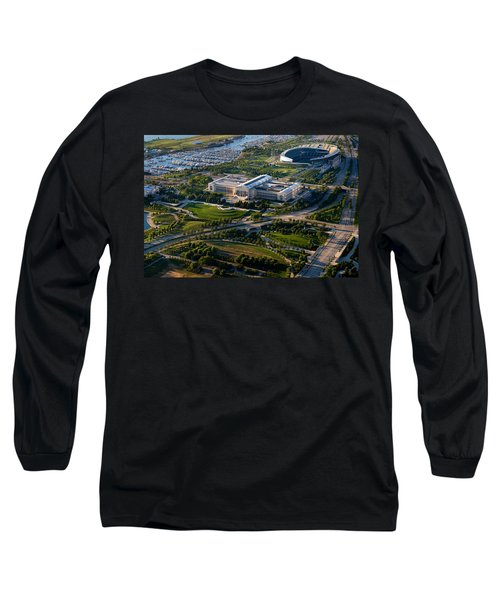 Aerial View Of The Field Museum Long Sleeve T-Shirt by Panoramic Images