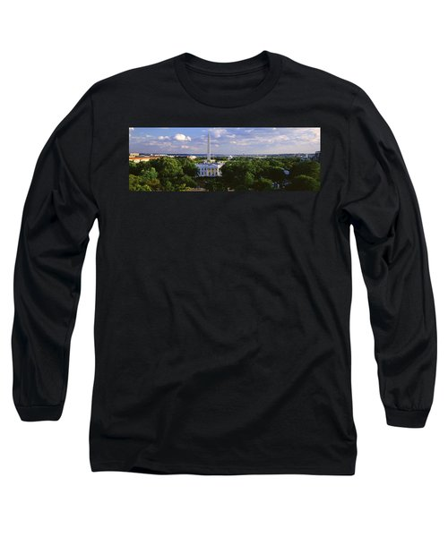Aerial, White House, Washington Dc Long Sleeve T-Shirt by Panoramic Images