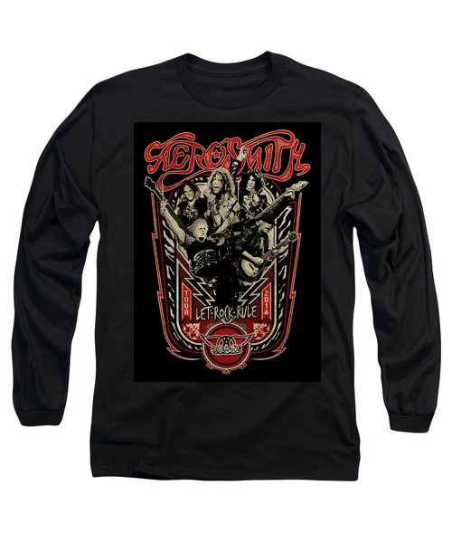 Aerosmith - Let Rock Rule World Tour Long Sleeve T-Shirt by Epic Rights