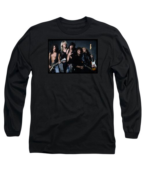 Aerosmith - Let The Music Do The Talking 1980s Long Sleeve T-Shirt by Epic Rights