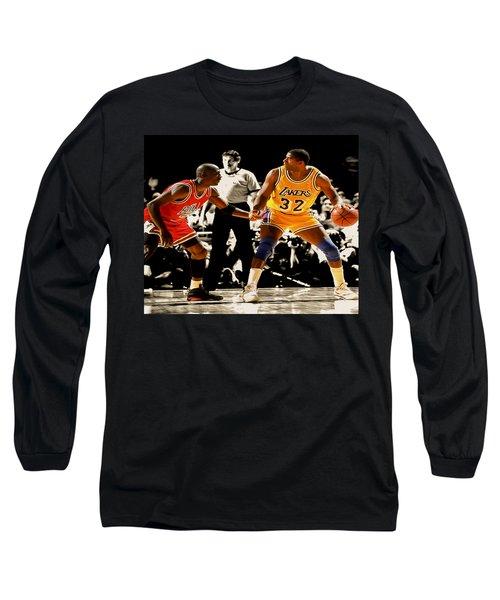 Air Jordan On Magic Long Sleeve T-Shirt by Brian Reaves