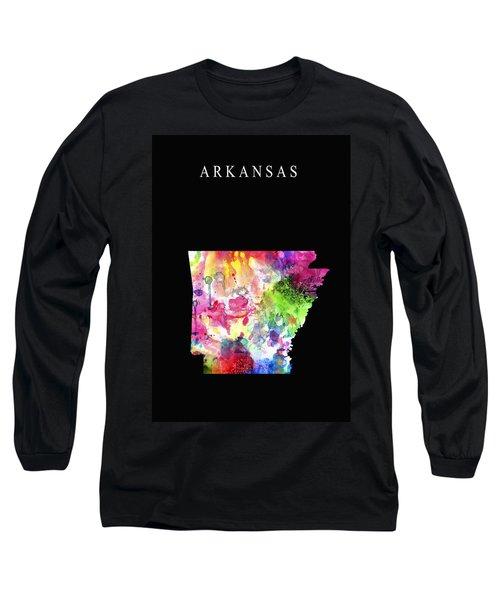 Arkansas State Long Sleeve T-Shirt by Daniel Hagerman