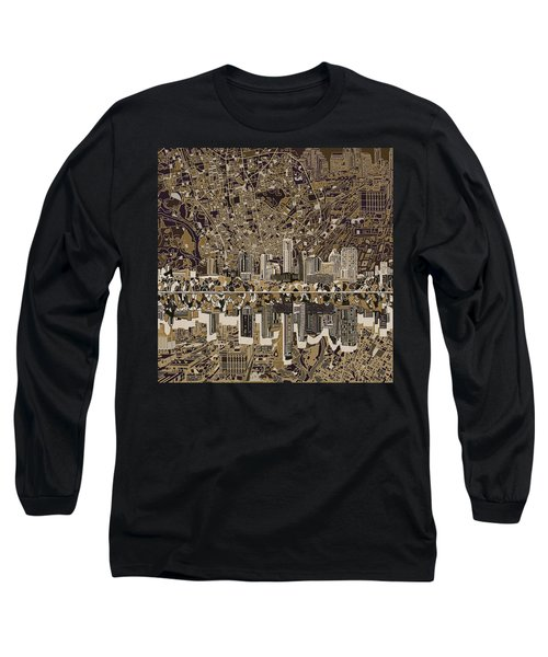 Austin Texas Skyline 5 Long Sleeve T-Shirt by Bekim Art