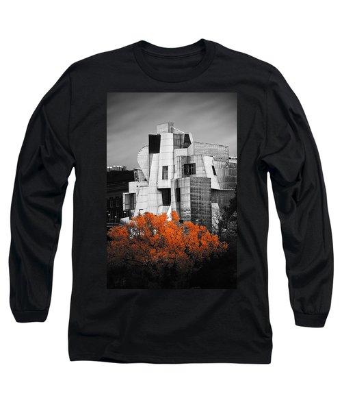 autumn at the Weisman Long Sleeve T-Shirt by Matthew Blum