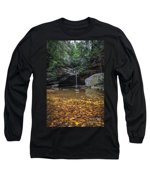 Autumn Falls Long Sleeve T-Shirt by James Dean