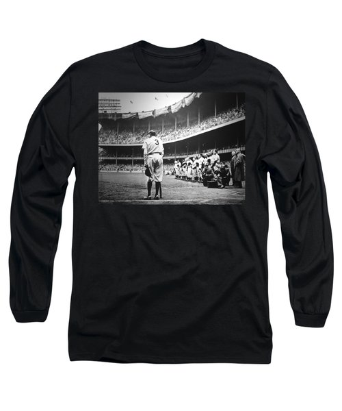 Babe Ruth Poster Long Sleeve T-Shirt by Gianfranco Weiss