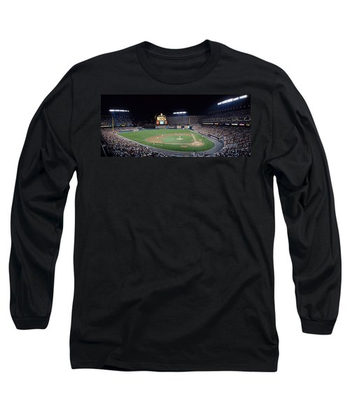 Baseball Game Camden Yards Baltimore Md Long Sleeve T-Shirt by Panoramic Images